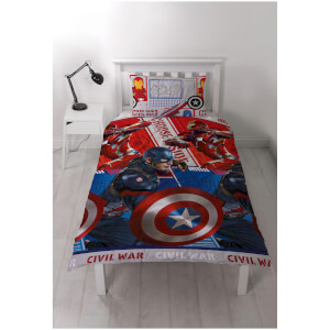 Set de cama reversible Capitán América: Civil War
