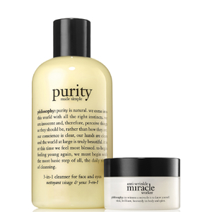 Philosophy Purity 3-in-1 Cleanser 240ml + Anti-Wrinkle Miracle Worker Moisturizer 15ml
