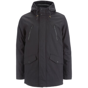 Brave Soul Men's Fingland Coated Parka - Navy