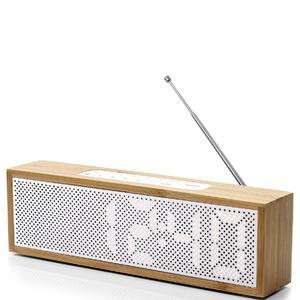Lexon Titanium Alarm Clock - Bamboo