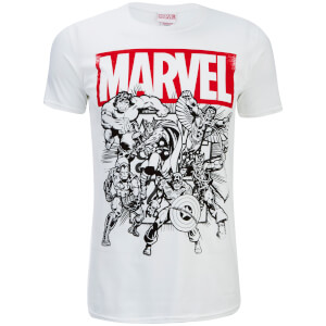 T-Shirt Homme Marvel Collection - Blanc