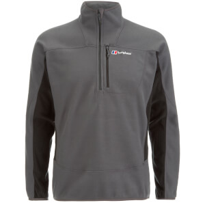 Berghaus Men's Prism Half Zip Micro Fleece - Carbon/Black