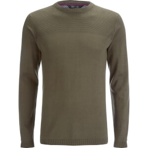 Dissident Men's Stelios Crew Neck Jumper - Amazon Khaki