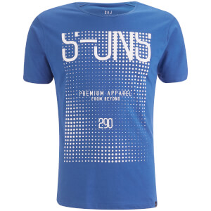Smith & Jones Men's Cenotaph Print T-Shirt - Classic Blue