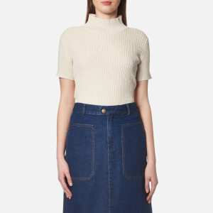 A.P.C. Women's Mina Short Sleeve Jumper - Mastic