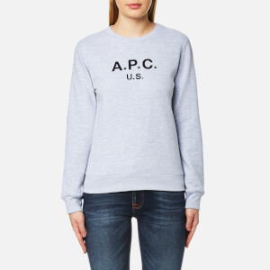 A.P.C. Women's US F Sweatshirt - China Light Grey
