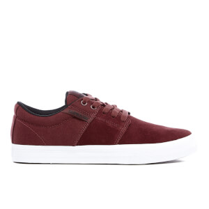 Supra Men's Stacks II Vulc Trainers - Burgundy/White
