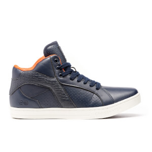 Crosshatch Men's Berkane High Top Trainers - Navy Blazer