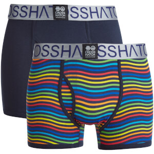 Crosshatch Men's Spectromic 2-Pack Boxers - Rainbow/Navy