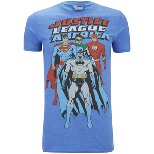 DC Comics Mens Justice League T-Shirt - Heather Royal