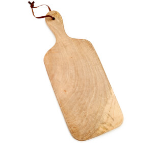 Nkuku Chunni Mango Wood Square Chopping Board 38 x 15cm