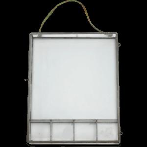 Nkuku Kiko Photo Box - 20.5 x 28cm - Antique Zinc
