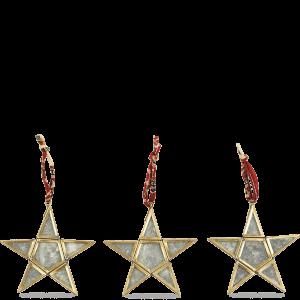 Nkuku Sumba Hanging Brass Stars Set of 3