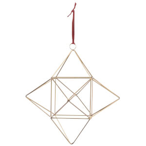 Nkuku Talini Geometric Star Christmas Decoration