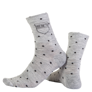 Nalini Wool Pois Socks - Grey