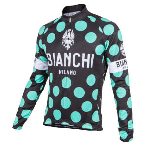 Bianchi Leggenda1 Long Sleeve Jersey - Green Polka Dot