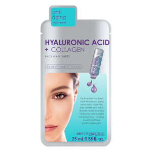 Skin Republic Hyaluronic Acid + Collagen Face Sheet Mask 25ml