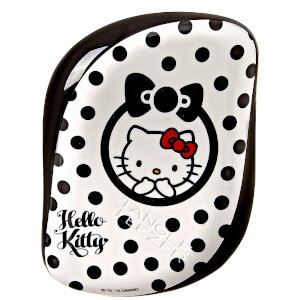 Cepillo de Pelo Compact Styler Hello Kitty de Tangle Teezer - Negro/Blanco