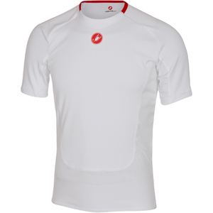 Castelli Prosecco Short Sleeve Base Layer - White
