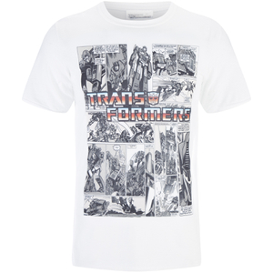 Transformers Men's Comic Strip T-Shirt - Weiß