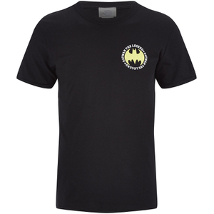 DC Comics Batman Mens The Legend Logo - Zwart