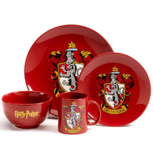 Harry Potter Gryffindor 4 Piece Ceramic Dinner Set
