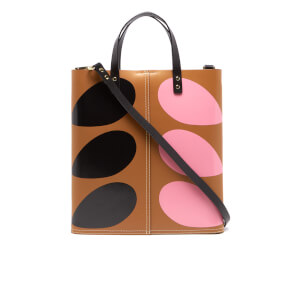Orla Kiely Women's Stem Print Leather Laurel Tote Bag - Hazel
