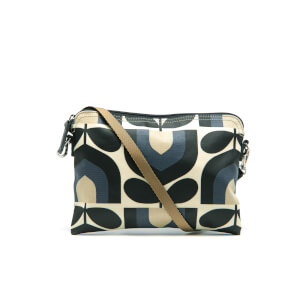 Orla Kiely Women's Matt Laminated Stripe Tulip Print Travel Pouch - Dusk