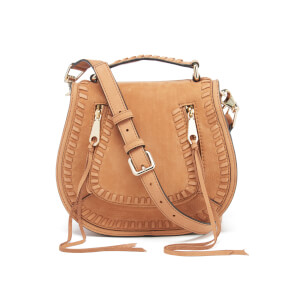Rebecca Minkoff Women's Small Vanity Saddle Bag - Almond