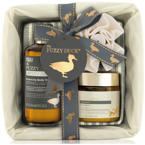 Baylis & Harding Fuzzy Duck Black Pepper & Sage 3 Piece Wicker Basket Gift Set