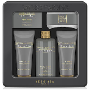 Baylis & Harding Skin Spa Amber & Sandalwood 5 Piece Tin Gift Set