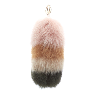 Furla Women's Bubble Fur Pom Pom Keyring - Moonstone/Multi