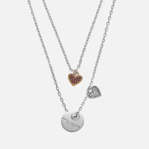 Marc Jacobs Women's MJ Coin Layered Pendant - Crystal/Silver