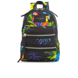 Marc Jacobs Women's Parrot Printed Biker Mini Backpack - Black Multi