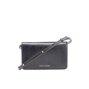 Marc Jacobs Women's Saffiano Leather Shoulder Strap Purse - Black