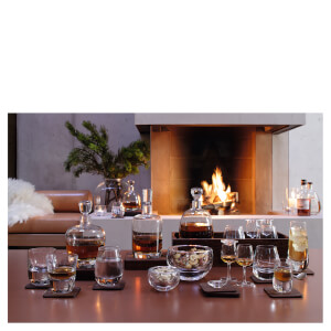 LSA Whisky Islay Tumblers & Walnut Coasters - 250ml - Set of 2: Image 2