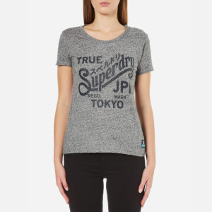 Superdry Women's Keep It T-Shirt - Grey Marl/Black/Snowy