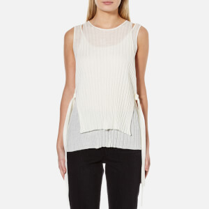 Helmut Lang Women's Layered Rib Tank Top - White