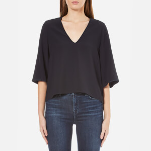 Helmut Lang Women's Deep V Neck Top - Navy