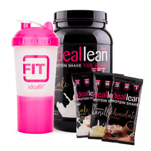 IdealLean Protein + 3 Sample Packs + IdealFit Shaker Bottle