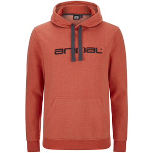 Sweat à Capuche Homme Luna Animal - Rouge Chiné