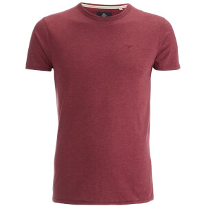 T-Shirt Homme Threadbare William - Grenat Chiné