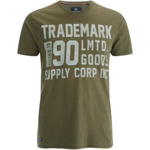 Threadbare Men's Palm T-Shirt - Khaki