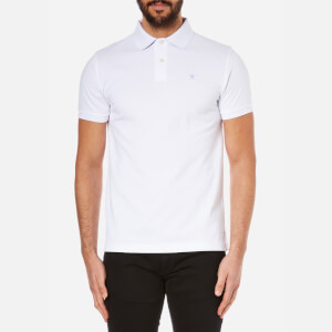 Hackett London Men's Tailored Logo Polo Shirt - White/Blue