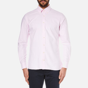 Hackett London Men's Slim Washed Oxford Long Sleeve Shirt - Pink