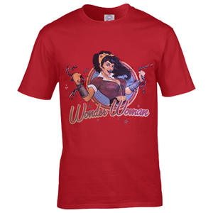 DC Comics Bombshell Wonder Woman Logo Heren T-Shirt - Rood