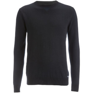 Threadbare Men's Tommy Cotton Crew Neck Casual Jumper - Black