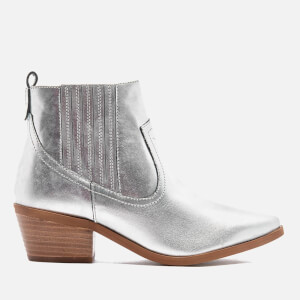 Dune Women's Quiz Leather Heeled Chelsea Boots - Pewter