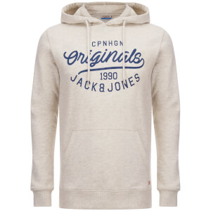 Jack & Jones Men's Originals Finish Hoody - Treated White