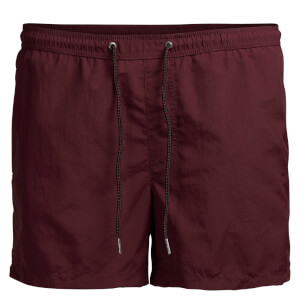 Jack & Jones Men's Sunset Swim Shorts - Burgundy